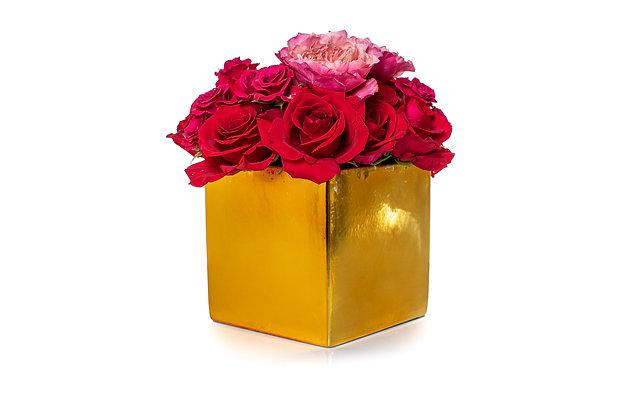 Golden box roses