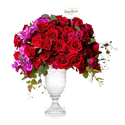 Crystal Red Roses