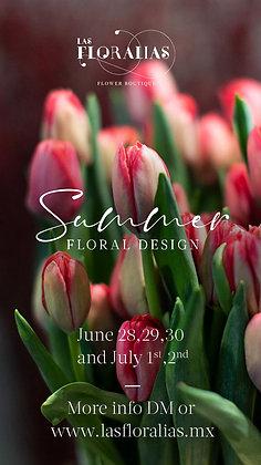 Summer floral design (16:00 a 17:30 hrs.)