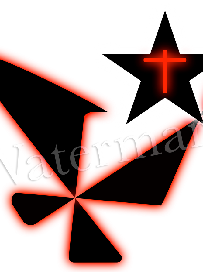 Abstract black and red cross.png