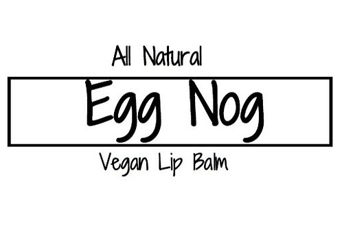 Eggnog Lip Balm