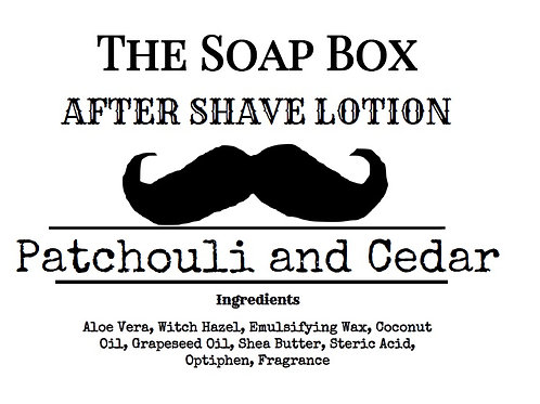 Patchouli and Cedar Aftershave