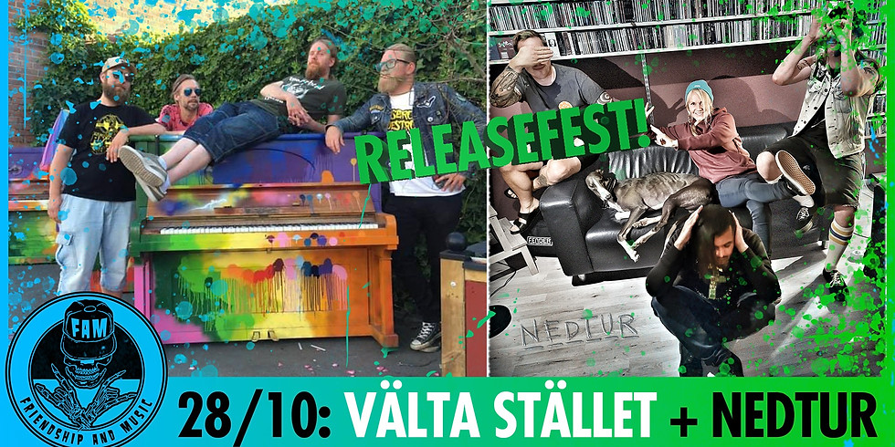 CONCERT: Välta Stället + Nedtur (releasefest)