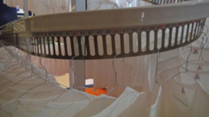 Конвейер для одежды автоматический, конвейер с системой автоматического поиска одежды, конвейер для химчистки, конвейер для гардероба