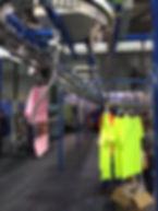 сортеровка в химчистке, комплектовка в химчистки, комплектовка одежды, комплектовка заказа одежды, конвейер для химчистки