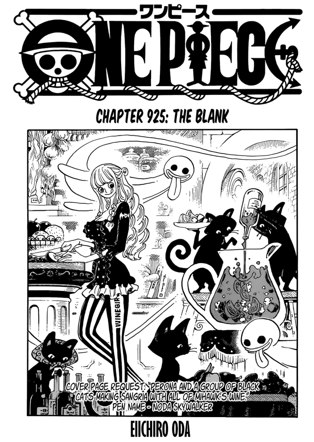 One Piece Chapter 925 The Blank