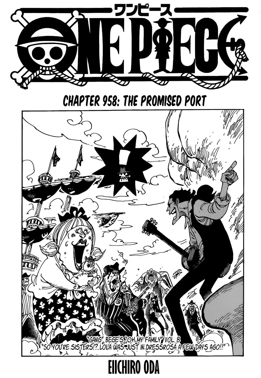 One Piece Chapter 958: The Promised Port