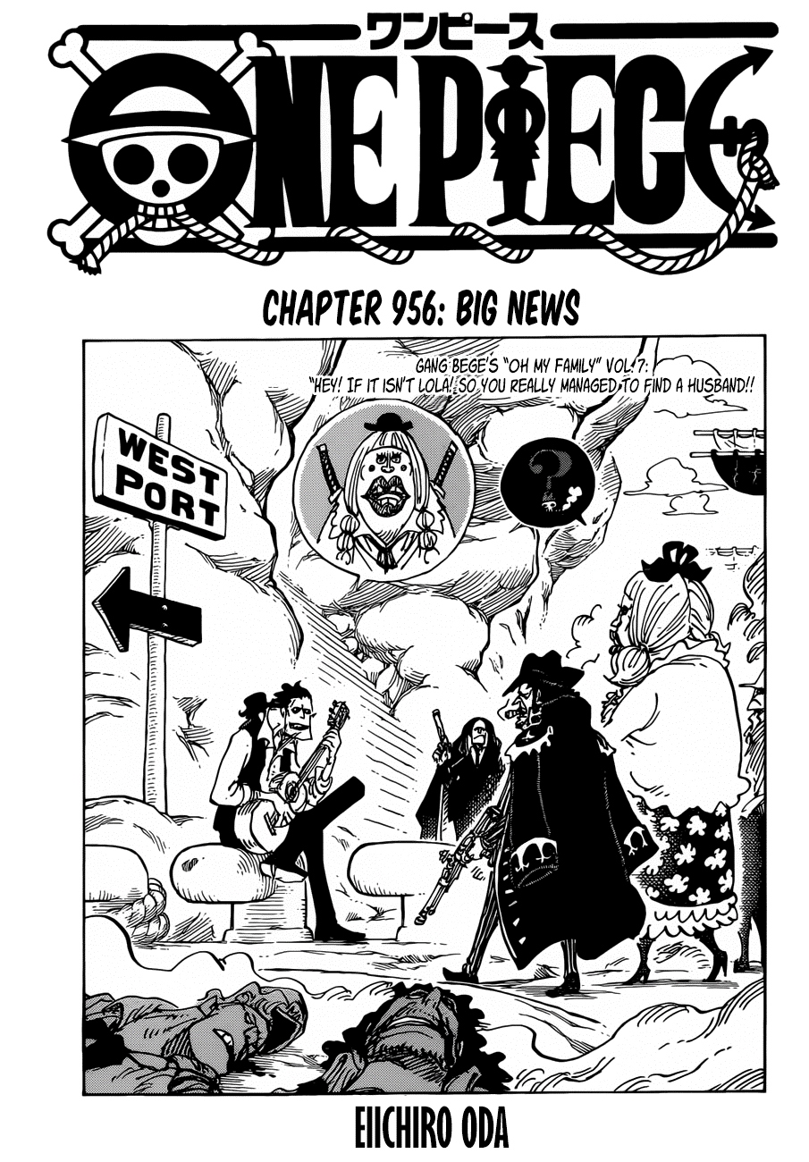 One Piece Chapter 956: Big News