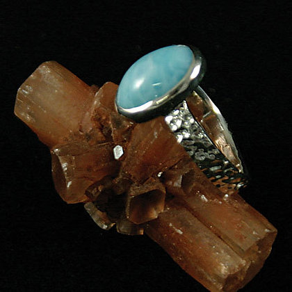 Cold-Forged Larimar Ring SOLD