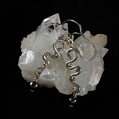 Fabricated Sterling Silver 14k Gold Earrings -SOLD