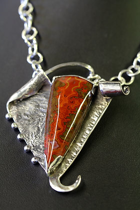 Moroccan Flame Agate Necklace