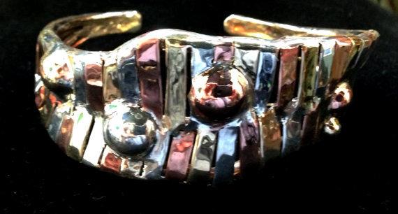 Tri-Metal Cuff Bracelet