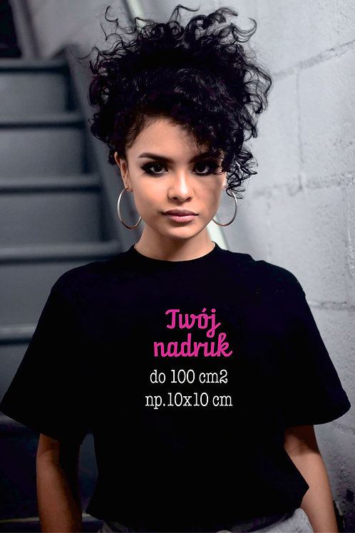 T-Shirt SPERSONALIZOWANY Damski Czarny