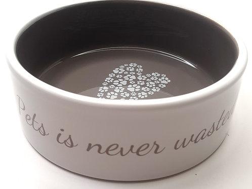 Miseczka ceramiczna 300 ml biało-brązowa