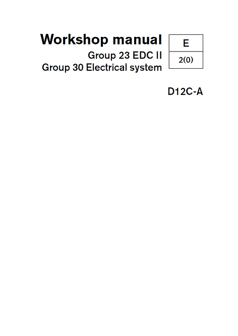 Workshop Manual D12C-A