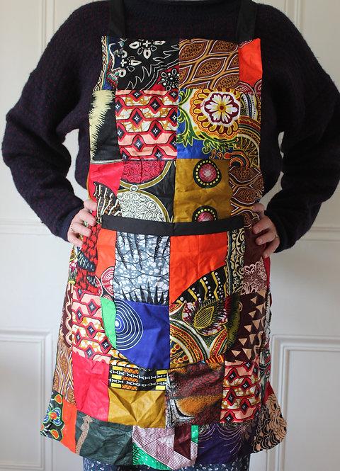 African fabric apron