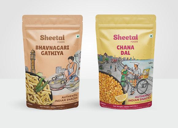 Namkeen Combo Bhavnagri Gathiya & Chana Dal