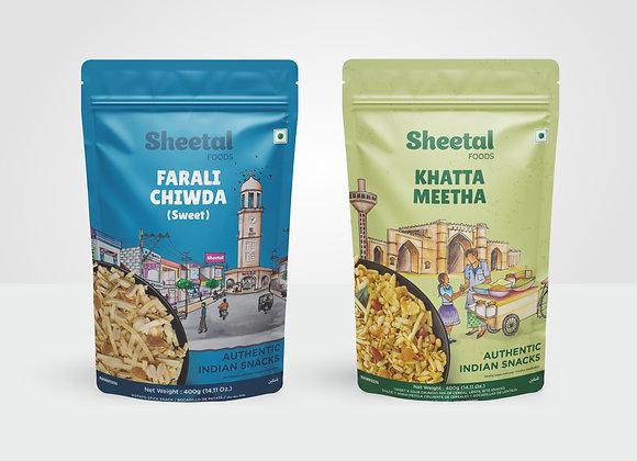 Namkeen Combo Farali Chewdo (Sweet) & Khatta Meetha