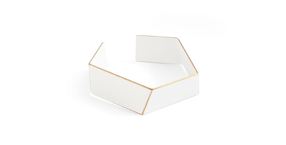 """""""Folded"""" bracelet white"""