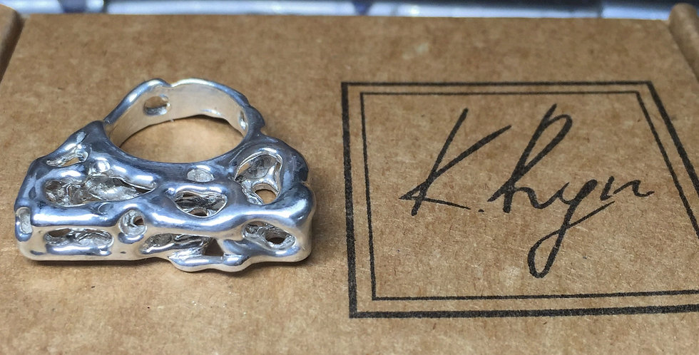 FLOW 3D Silver Ring
