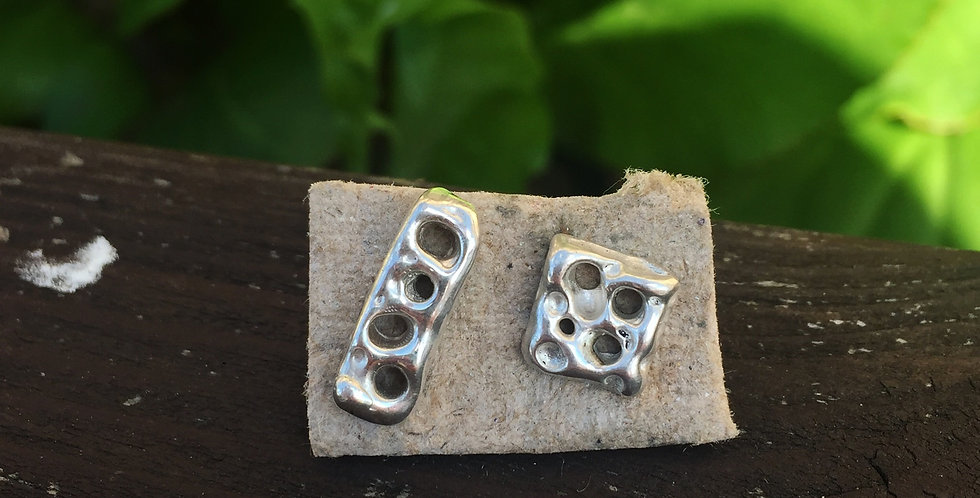 Sterling Silver FLOW Studs