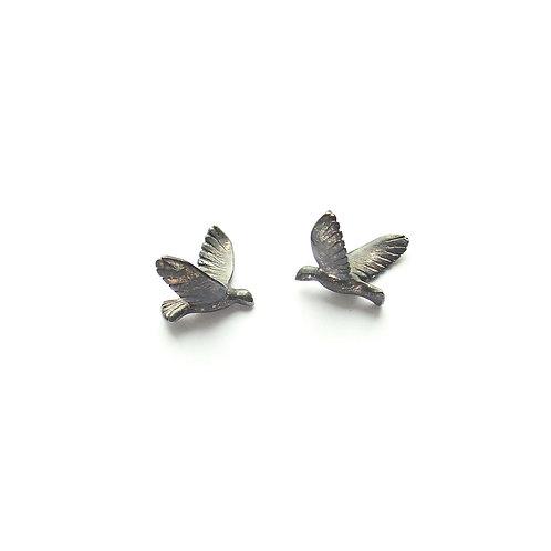 Birds – Silver earrings