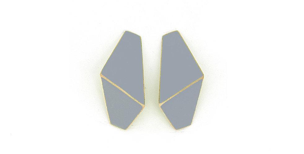 """""""Folded"""" earrings slim grey"""