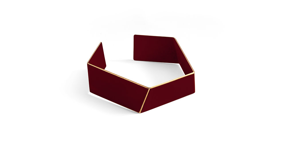 "SOLD! ""Folded"" bracelet dark red"