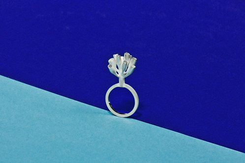Coral, Baby Tulips Ring