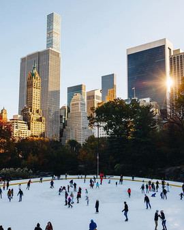 Ice skating on a cold November afternoon