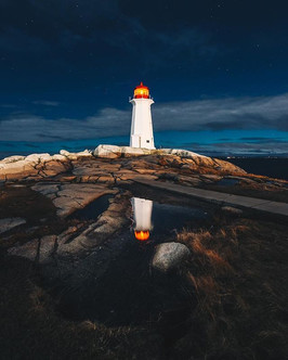 Having Peggy's Cove all to yourself is a