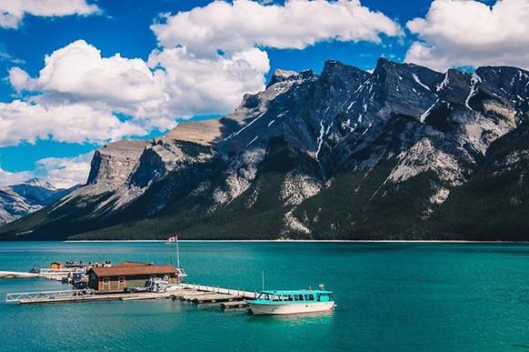 Lake Minnewanka is a glacial lake locate