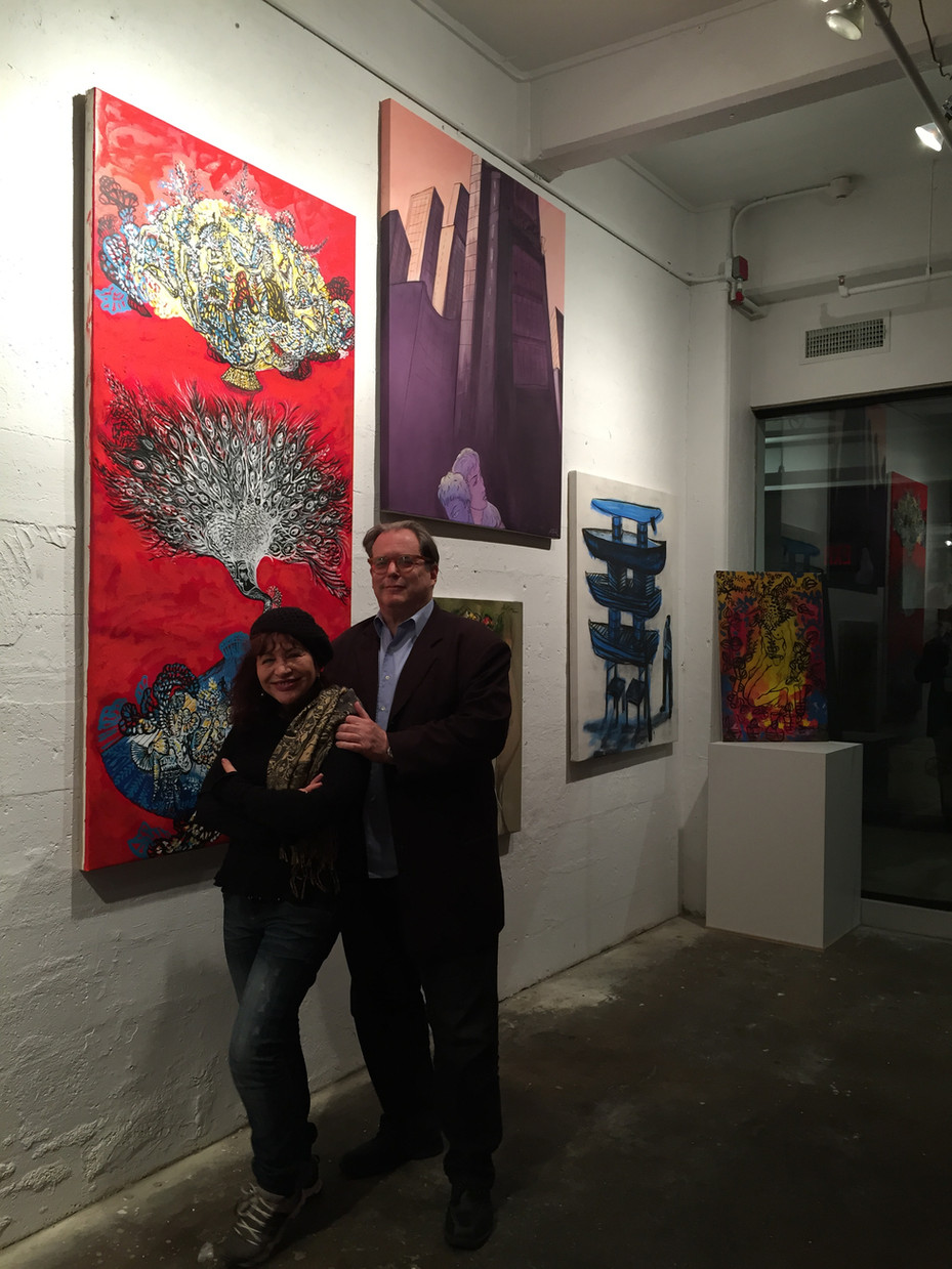 Cuban Artist, Zaida del Rio visited the gallery