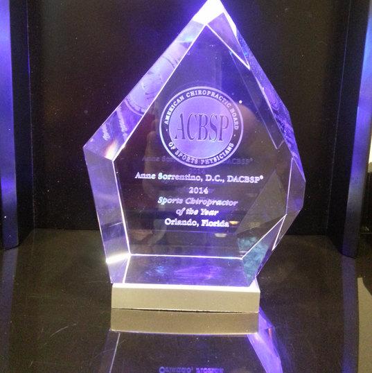 Sports Chiropractor Award