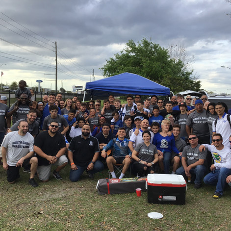 The tailgate before the state finals.