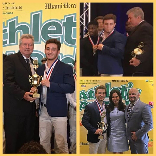 """Your 2018 Miami Herald's """"Dade County Wrestler and Male Athlete of the Year!!!!"""