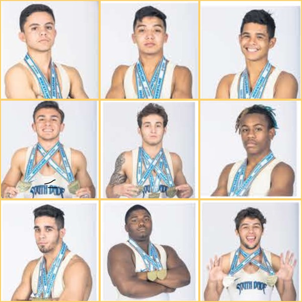 2018 All Dade Team Members, only 9 out of 14 weight classes, slacking!!!!