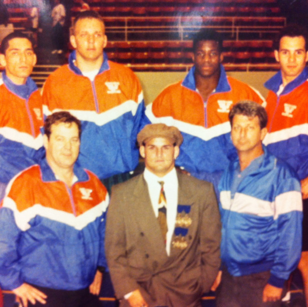 Coach Mike McCoy and the 4 State Champions that began the DYNASTY!!