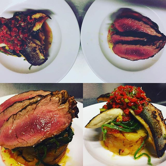 2 of our tasty main courses from our Monday- Thursday 3 course £21 set menu del dia!!