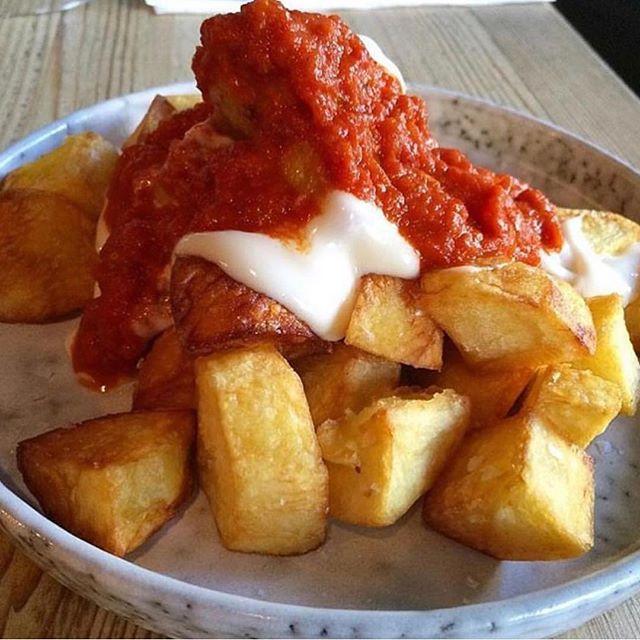 Saucy saucy!! #patatasbravas #spanishfoo