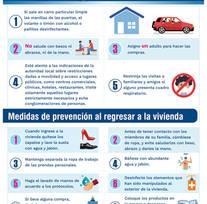 Medidas de prevención al salir de las viviendas