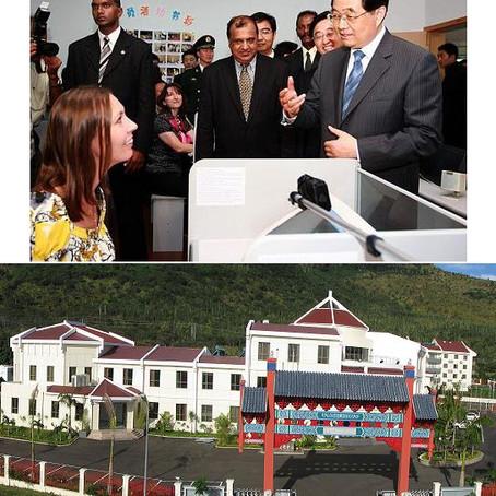 胡锦涛主席视察中江公司承建的毛里求斯中国文化中心