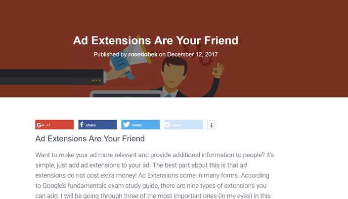 Ad Extensions Are Your Friend