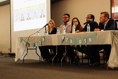 GTB Panelists at an American Marketing Association meeting at the University of Michigan-Dearborn