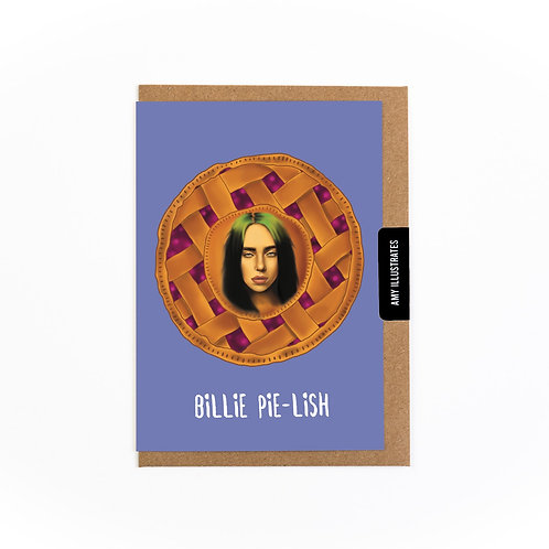 Billie Pie-lish Greetings Card