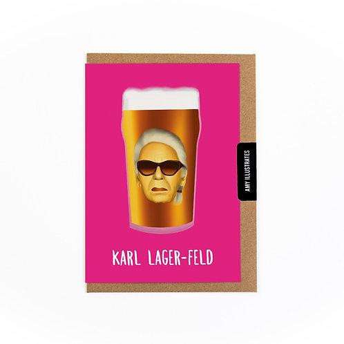 Karl Lager-feld Greetings Card