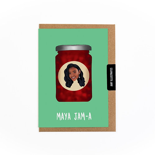 Maya Jam-a Greetings Card