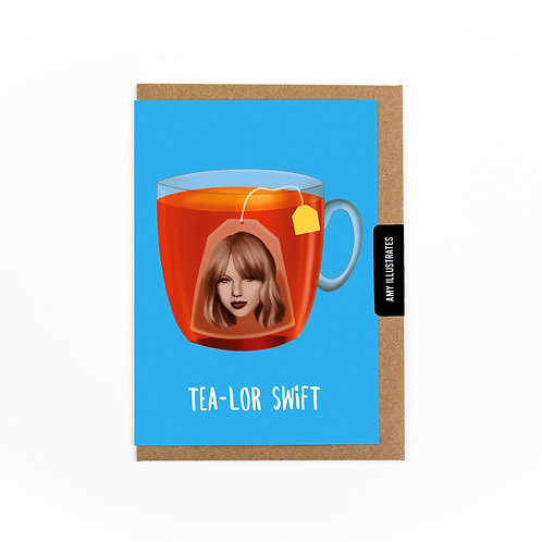 Tea-lor Swift Greetings Card
