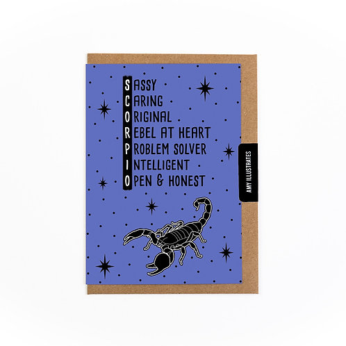 Scorpio Zodiac Greetings Card