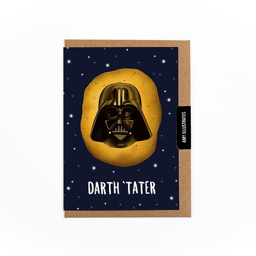 Darth 'Tater Greetings Card